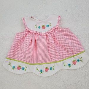 Vintage Kids Dress 3 6 Month Little Bitty Embroide